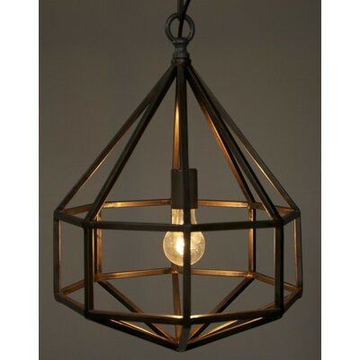 Noir Diamond 1 Light Foyer Pendant