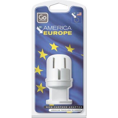 Go Travel USA - EU Visitor Adaptor Plug