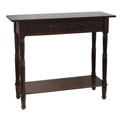 Walnut Finish Console Table | Wayfair