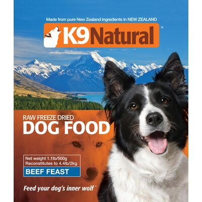 K9 Natural Beef Feast Feeze Dry Dog Food