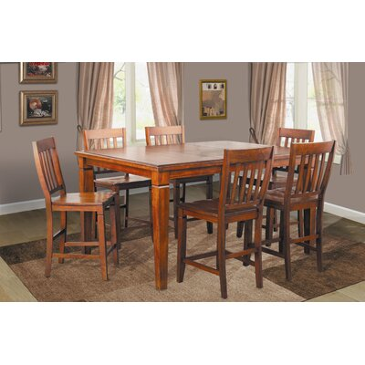 Lifestyle California Avery 7 Piece Counter Height Dining Set