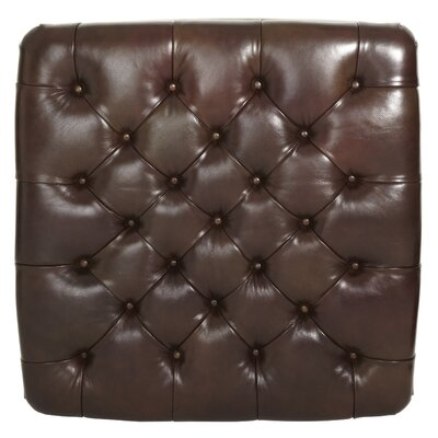 Michael Amini Windsor Court Leather Cocktail Ottoman