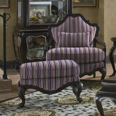 Michael Amini Lavelle Bergere Chair and Ottoman