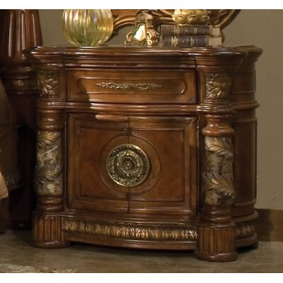 Michael Amini Villa Valencia 1 Drawer Nightstand