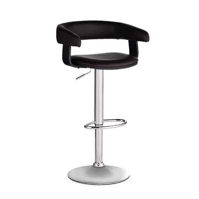 Sunpan Modern Sergio Faux Leather Adjustable Barstool