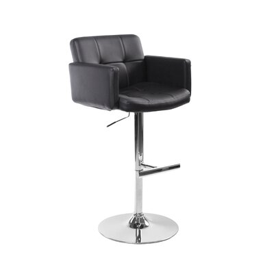 "Sunpan Modern Churchill 24"" Adjustable Bar Stool with Cushion"
