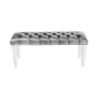 Sunpan Modern Glamour Faux Velvet Bench