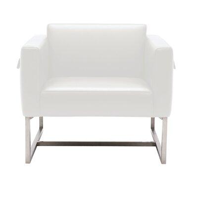 Sunpan Modern Zurich Leather Armchair | Wayfair
