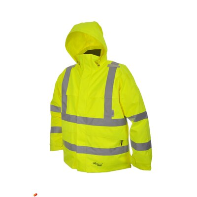 Professional Journeyman 300D Trilobal Rip Stop Safety Coat with Hood