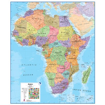 Lovell Johns Africa 1:8 Laminated Wall Map