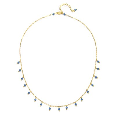 Timeless Beauty 18k Vermeil Crystal Lapis Cultured Pearl Reese Necklace