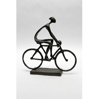 Vita V Home Man Pedaling Bike Statue