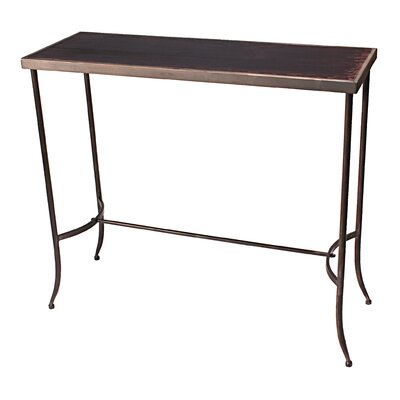 Vita V Home Tapered Leg Metal Console Table