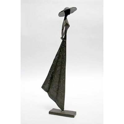 Vita V Home Woman in Hat Standing Cast Iron Statue