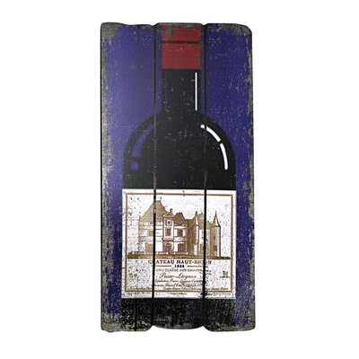 Vita V Home Champagne Bottle Plaque Wall Art