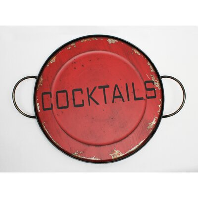 Vita V Home Cocktails Round Serving Tray