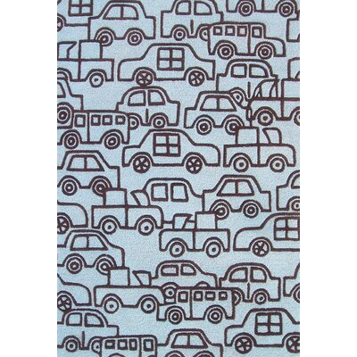 Abacasa Abacasa Kids Wheels Lt. Blue/Chocolate Area Rug