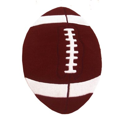 Abacasa Abacasa Kids Football Brown/White Area Rug