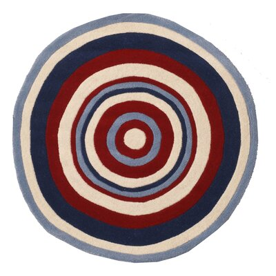 Abacasa Abacasa Kids Bullseye Red/Blue/White Area Rug