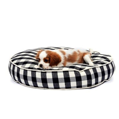 Waggo Buffalo Plaid Dog Pillow