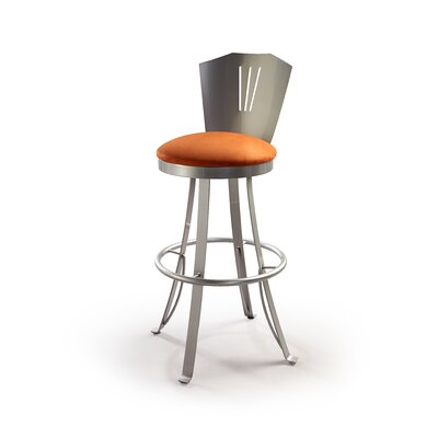 "Createch Stardus 24"" Swivel Bar Stool with Cushion"