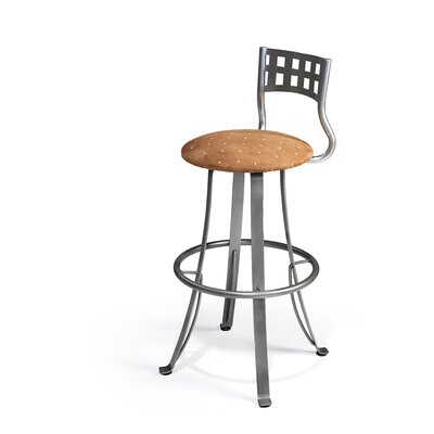 "Createch Nip 30"" Swivel Bar Stool with Cushion"