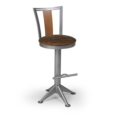 "Createch Elix 24"" Swivel Bar Stool with Cushion"