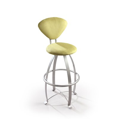 "Createch Mia 30"" Swivel Bar Stool with Cushion"