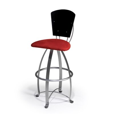 "Createch Kirpa 30"" Swivel Bar Stool with Cushion"