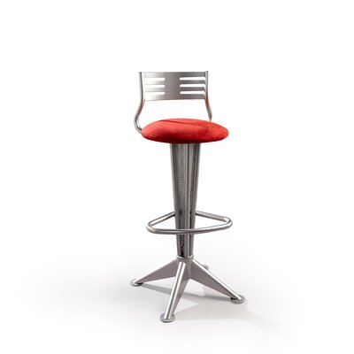 "Createch Sky 24"" Swivel Bar Stool with Cushion"