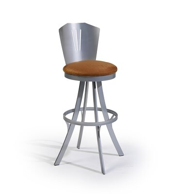 "Createch Sizo 30"" Swivel Bar Stool with Cushion"