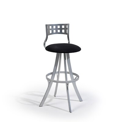 "Createch Leo 24"" Swivel Bar Stool with Cushion"