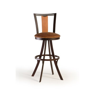 "Createch Zep 24"" Swivel Bar Stool with Cushion"