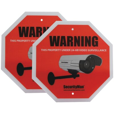 Security Man Surveillance Warning Sign