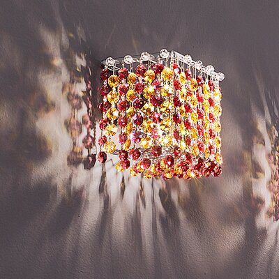 Masiero Aurea 1 Light Cube Wall Sconce