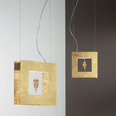 Masiero Klok 1 Light 1 Glass Drop Pendant