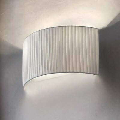 Masiero Tessuti Round 1 Light Wall Sconce
