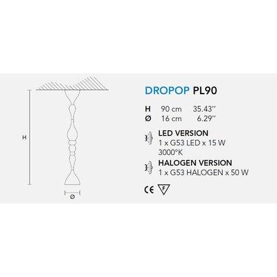 Masiero Dropop 1 Light Ceiling Fixture