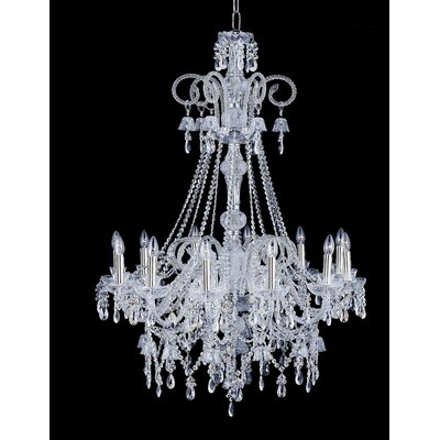 Cristalstrass Murano & Crystal Arabesque 12 Light Crystal Chandelier