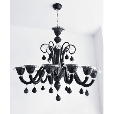 Cristalstrass Murano & Crystal Bartolomeo 12 Light Chandelier