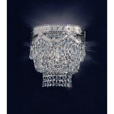 Cristalstrass Murano & Crystal Babylon 2 Light Crystal Wall Sconce ...