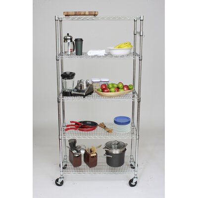 "Trinity EcoStorage™ 5-Tier NSF 36"" Shelving Rack in Chrome"