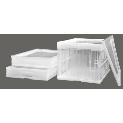 Trinity 46.5 Quart Collapsible Crate (3 Pack)