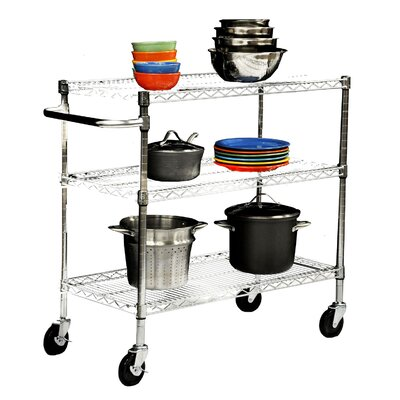 Trinity EcoStorage™ 3 Tier NSF Chrome Cart