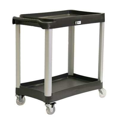 "Trinity EcoStorage 35"" 2-Tier Commercial Grade Wheeled Utility Cart"