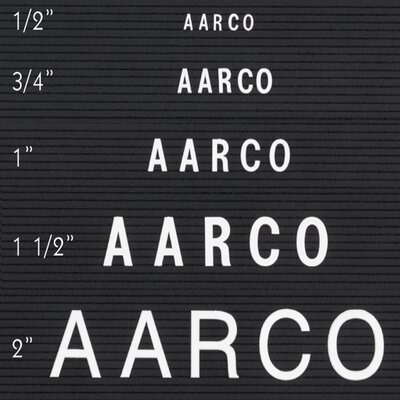 AARCO Single Tab Changeable Letters in Helvetica