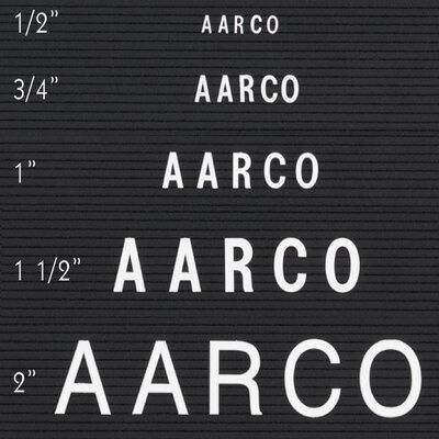 AARCO Single Tab Changeable Letters in Helvetica