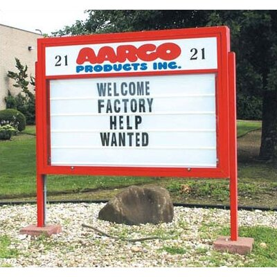 AARCO Marquee Changeable Sign System with Optional Symbol Case in Multiple Colors