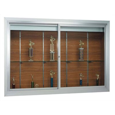 AARCO Deluxe Recessed Display Case with Sliding Doors