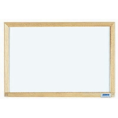 AARCO Economy Series White Melamine Marker Board in White